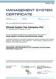FSSC 22000 – Food Safety System Certification